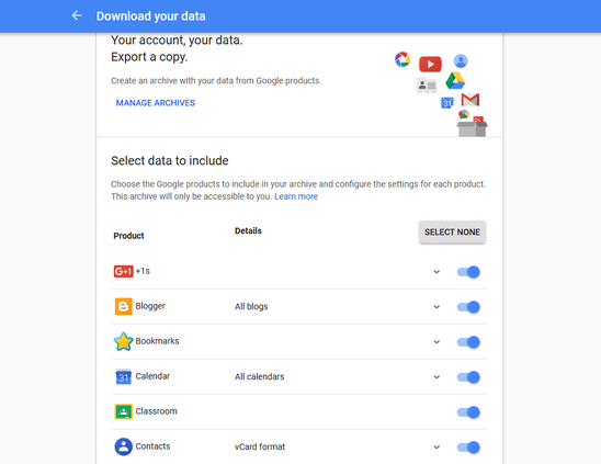 Transfer All Gmail data to Your Hard Drive